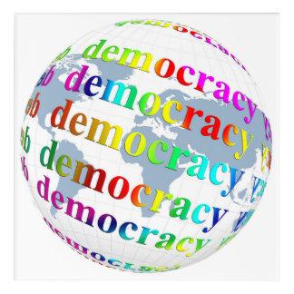 Global Democracy Acrylic Wall Art