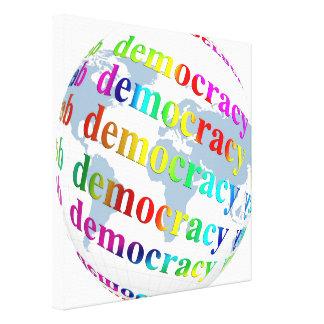 Global Democracy Canvas Print
