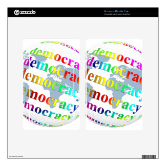 Global Democracy Decal For Kindle Fire