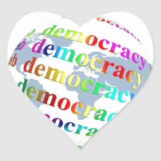 Global Democracy Heart Sticker
