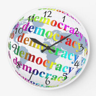 Global Democracy Large Clock