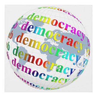 Global Democracy Panel Wall Art