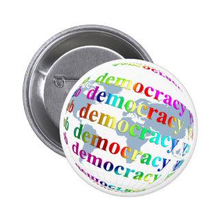 Global Democracy Pinback Button