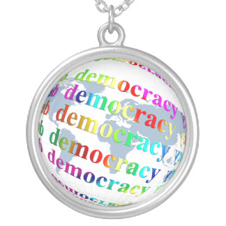 Global Democracy Silver Plated Necklace
