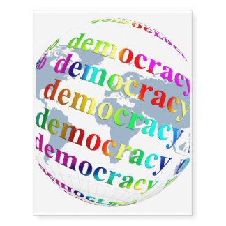 Global Democracy Temporary Tattoos