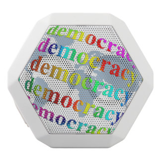 Global Democracy White Bluetooth Speaker