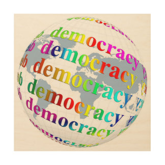 Global Democracy Wood Wall Art