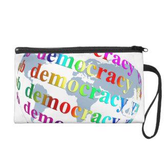 Global Democracy Wristlet Purse