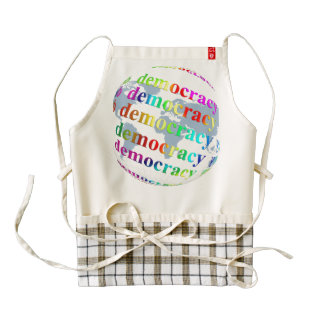 Global Democracy Zazzle HEART Apron