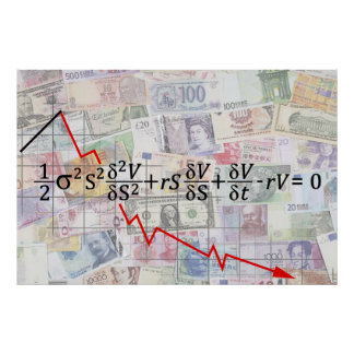 GLOBAL DERIVATIVE FINANCIAL MELTDOWN EQUATION POSTER