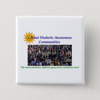 GLOBAL DIABETIC AWARENESS PINBACK BUTTON