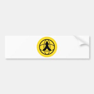 Global Distribution Financial Icon Car Bumper Sticker