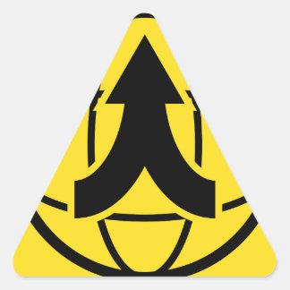 Global Distribution Financial Icon Triangle Sticker