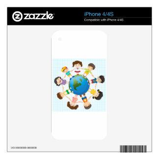 Global diversity iPhone 4 decals