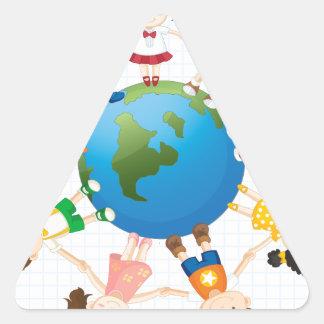 Global diversity triangle sticker