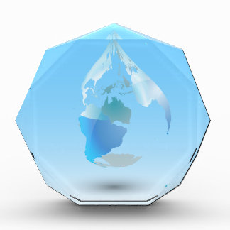Global Drop Of Water Background Acrylic Award