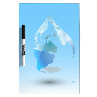 Global Drop Of Water Background Dry Erase Board