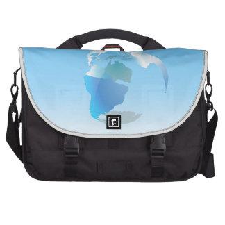 Global Drop Of Water Background Computer Bag