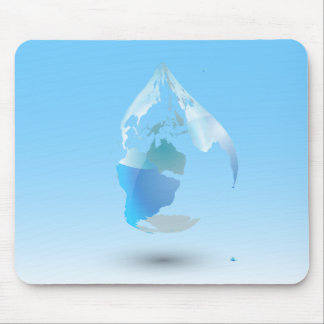 Global Drop Of Water Background Mouse Pad