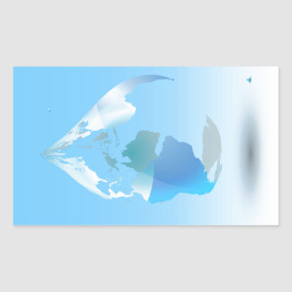 Global Drop Of Water Background Rectangular Sticker