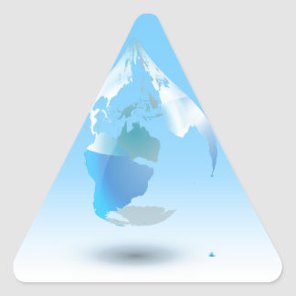 Global Drop Of Water Background Triangle Sticker