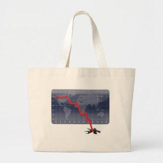 Global Economic Crisis Jumbo Tote Bag