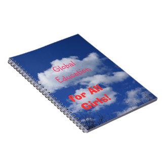 Global Education for All Girls Notebooks Blue Sky