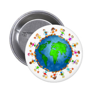Global Fall Kids 2 Inch Round Button