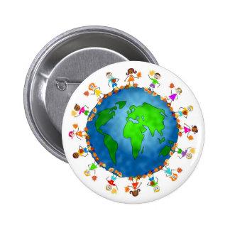 Global Fall Kids Pinback Button
