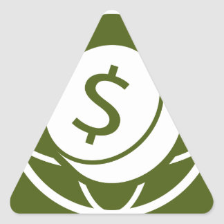 Global Financial Business Icon Triangle Sticker