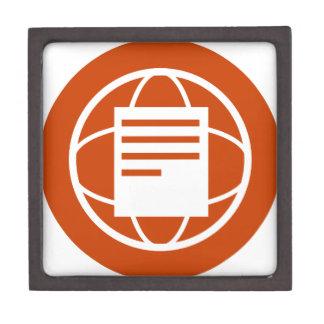Global Financial Document Icon Jewelry Box