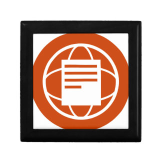 Global Financial Document Icon Keepsake Box