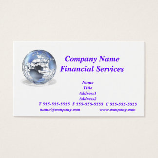 Global Financial Services Business Card