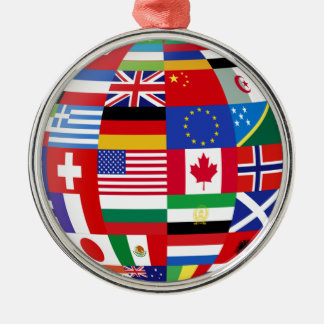 Global Flags Keepsake Ornament