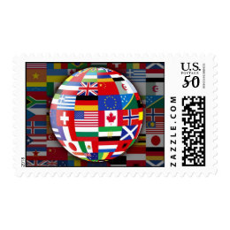Global Flags Stamp