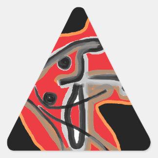 Global Fusion Triangle Sticker