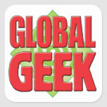 Global Geek v2 Square Stickers