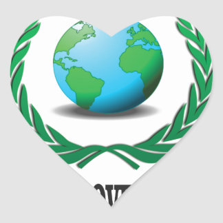 global government heart sticker