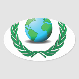 global government oval sticker