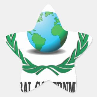 global government star sticker