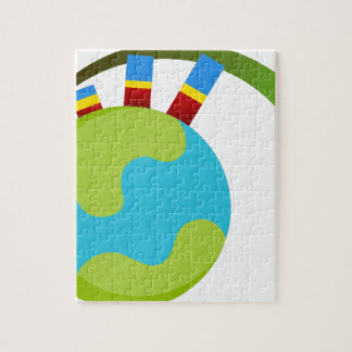 Global Growth Icon Jigsaw Puzzle