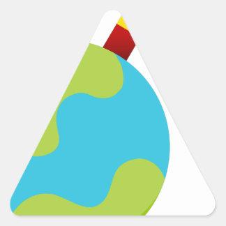 Global Growth Icon Triangle Sticker