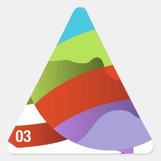 Global Growth Quadrants Triangle Sticker