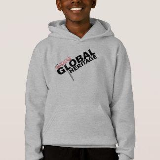 Global Heritage hoodie with black logo