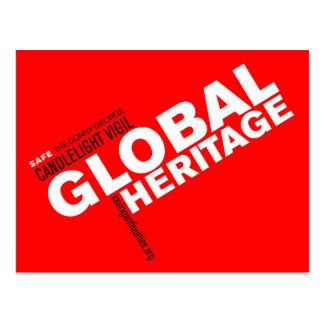Global Heritage postcard (red)
