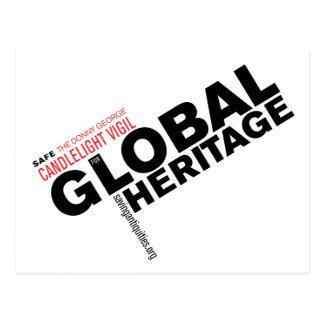 Global Heritage postcard (white)