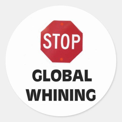 GLOBAL HOAX CLASSIC ROUND STICKER
