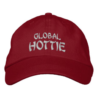 GLOBAL HOTTIE -  Red Embroidered Baseball Cap