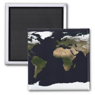 Global image of our world magnet
