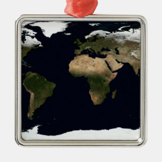 Global image of our world metal ornament